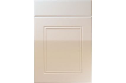 Unique Ascot High Gloss Cashmere kitchen door