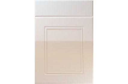 Unique Ascot High Gloss Cream kitchen door