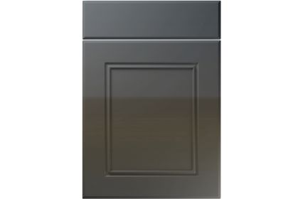 Unique Ascot High Gloss Graphite kitchen door