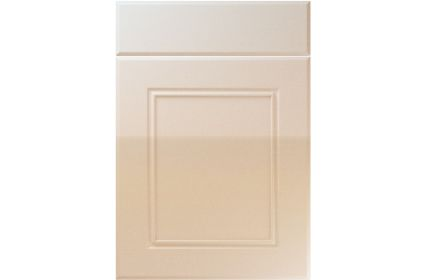 Unique Ascot High Gloss Sand Beige kitchen door