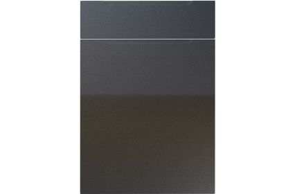 Unique Avienda High Gloss Anthracite Sparkle kitchen door