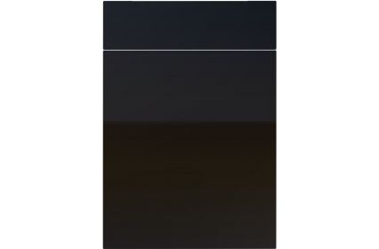 Unique Avienda High Gloss Black kitchen door