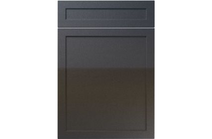 Unique Balmoral High Gloss Anthracite Sparkle kitchen door