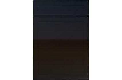 Unique Balmoral High Gloss Black kitchen door