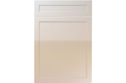Unique Balmoral High Gloss Cashmere kitchen door
