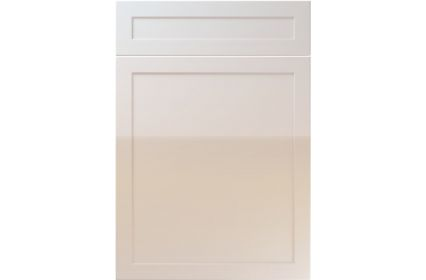 Unique Balmoral High Gloss Cream kitchen door
