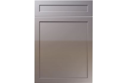 Unique Balmoral High Gloss Dust Grey kitchen door