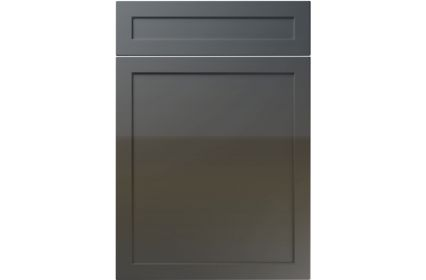 Unique Balmoral High Gloss Graphite kitchen door