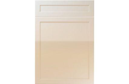 Unique Balmoral High Gloss Mussel kitchen door