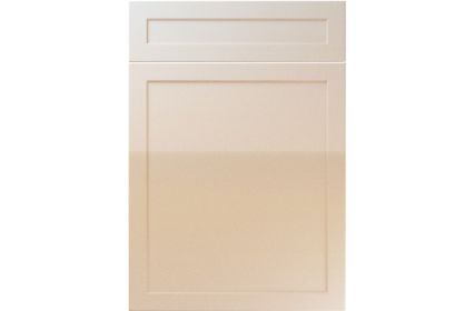 Unique Balmoral High Gloss Sand Beige kitchen door