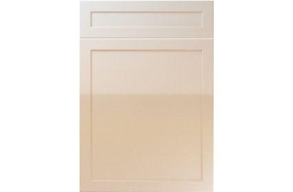 Unique Balmoral High Gloss Sand Beige kitchen door