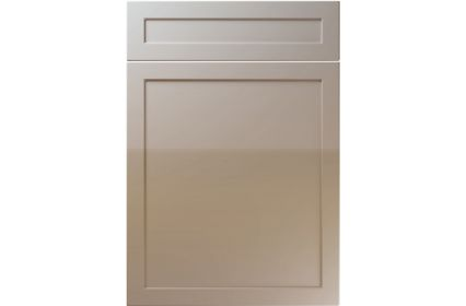 Unique Balmoral High Gloss Stone Grey kitchen door