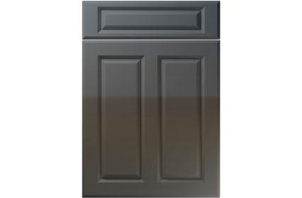 Unique Benwick High Gloss Graphite kitchen door