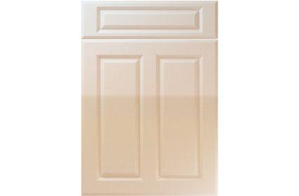 Unique Benwick High Gloss Sand Beige kitchen door