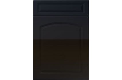 Unique Boston High Gloss Black kitchen door