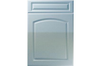 Unique Boston High Gloss Blue Sparkle kitchen door