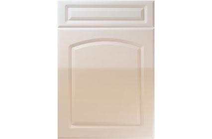 Unique Boston High Gloss Cashmere kitchen door