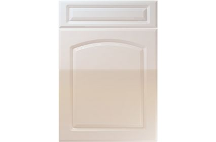 Unique Boston High Gloss Cream kitchen door