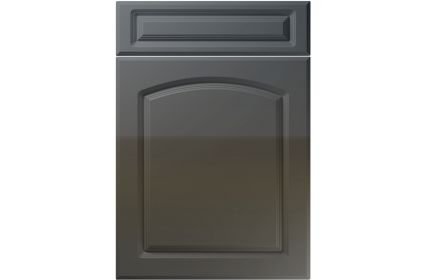 Unique Boston High Gloss Graphite kitchen door