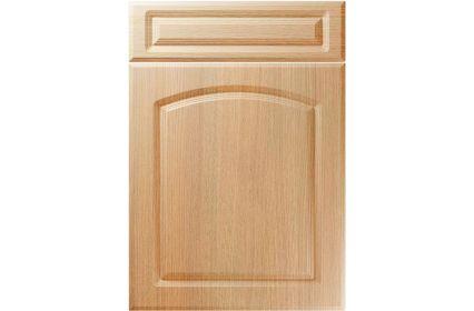 Unique Boston Light Ferrara Oak kitchen door