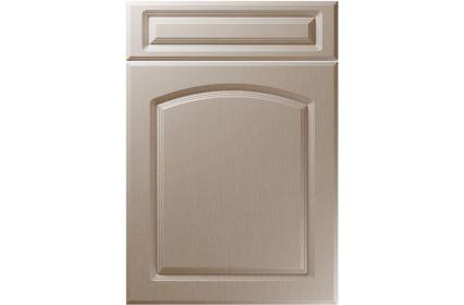Unique Boston Painted Oak Stone Grey kitchen door