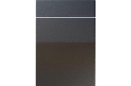 Unique Brecon High Gloss Anthracite Sparkle kitchen door