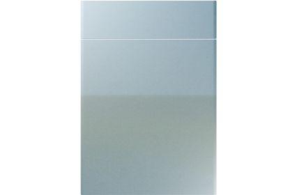 Unique Brecon High Gloss Blue Sparkle kitchen door