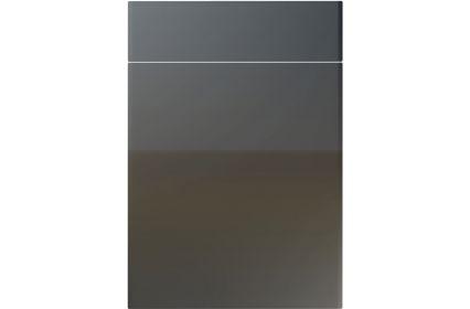 Unique Brecon High Gloss Graphite kitchen door