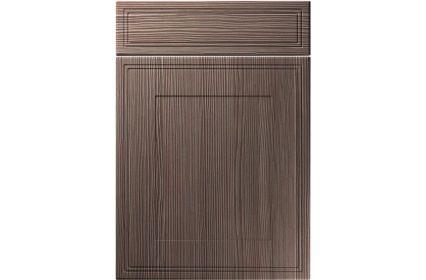Unique Bridgewater Brown Grey Avola kitchen door