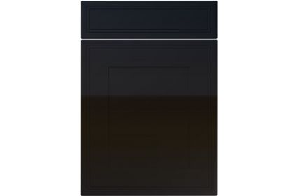 Unique Bridgewater High Gloss Black kitchen door