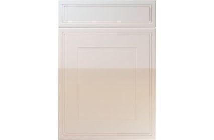 Unique Bridgewater High Gloss Cream kitchen door
