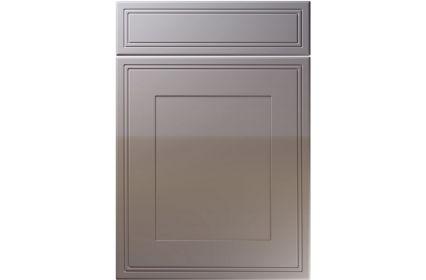 Unique Bridgewater High Gloss Dust Grey kitchen door