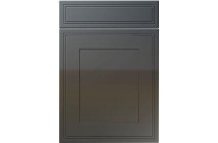 Unique Bridgewater High Gloss Graphite kitchen door