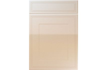 Unique Bridgewater High Gloss Sand Beige kitchen door