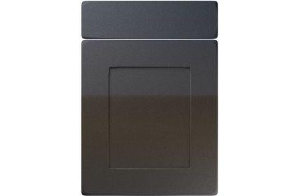 Unique Brockworth High Gloss Anthracite Sparkle kitchen door