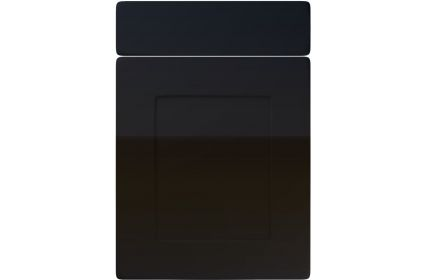 Unique Brockworth High Gloss Black kitchen door