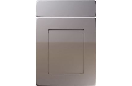Unique Brockworth High Gloss Dust Grey kitchen door