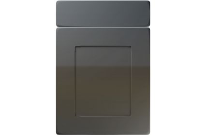 Unique Brockworth High Gloss Graphite kitchen door