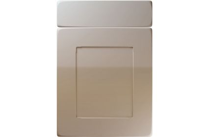 Unique Brockworth High Gloss Stone Grey kitchen door