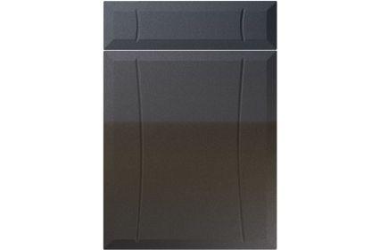 Unique Chardonnay High Gloss Anthracite Sparkle kitchen door