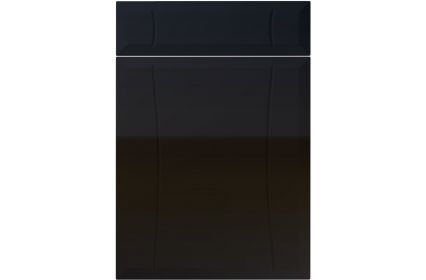 Unique Chardonnay High Gloss Black kitchen door