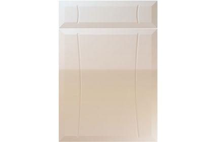 Unique Chardonnay High Gloss Cashmere kitchen door