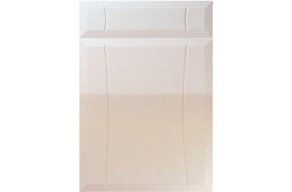 Unique Chardonnay High Gloss Cream kitchen door