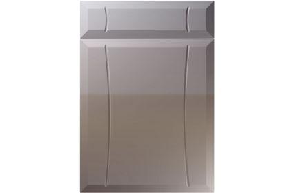 Unique Chardonnay High Gloss Dust Grey kitchen door