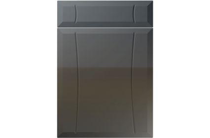 Unique Chardonnay High Gloss Graphite kitchen door