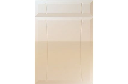 Unique Chardonnay High Gloss Mussel kitchen door