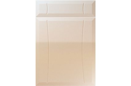 Unique Chardonnay High Gloss Sand Beige kitchen door