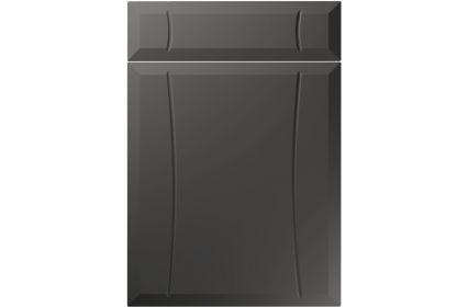 Unique Chardonnay Super Matt Graphite kitchen door