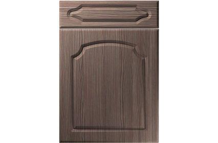 Unique Chedburgh Brown Grey Avola kitchen door