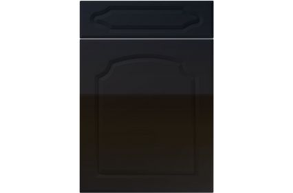 Unique Chedburgh High Gloss Black kitchen door
